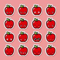 maçã fofa vetor