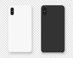 maquete do caso do smartphone. casos realistas para smartphone isolados. ilustração vetorial. vetor