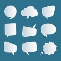conjunto de bolha do discurso vetor