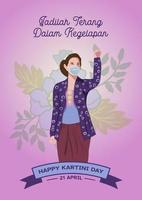 feliz celebração do dia do kartini vetor