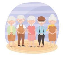 idosos fofos vetor