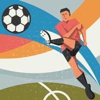 Jogador de futebol abstrato