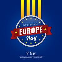 Fundo de Design do distintivo do dia da Europa vetor