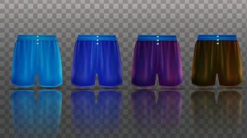 coleção de boxers masculinos ilustração do objeto 3d vetor