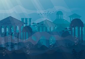 Ilustração da cidade de Atlântida vetor