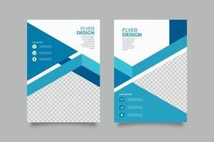 modelo de impressão de folheto de produtos médicos modernos vetor