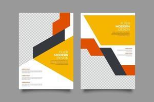folheto de negócios abstrato modelo amarelo vetor