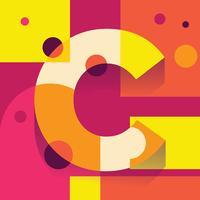 Letra C Tipografia Ilustração vetor