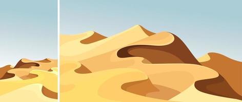conjunto de belas dunas de areia vetor