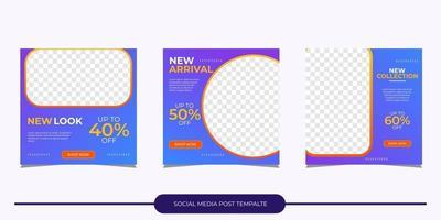 modelo de postagem de mídia social vetor