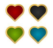 coração com moldura de ouro