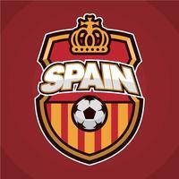 Patch de futebol espanhol vetor