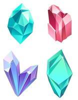 conjunto de gemas realistas. vetor
