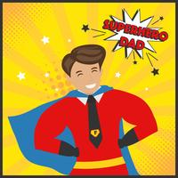 Vetor de pai de super-herói
