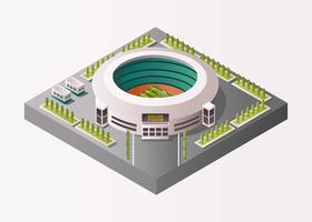Estádio de futebol isométrico vetor
