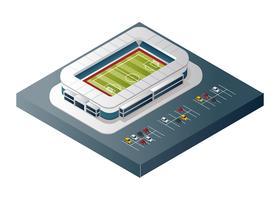 Vetor isométrico de estádio