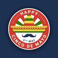 Projeto De Emblema De Cinco De Mayo vetor
