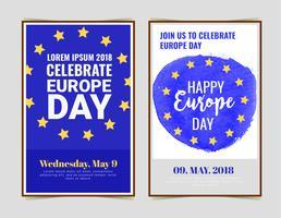 Cartaz do dia da Europa de vetor