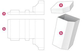 caixa alta chanfrada com molde de tampa cortada