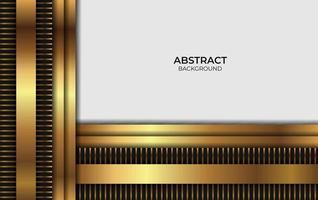 design de luxo abstrato dourado e preto vetor