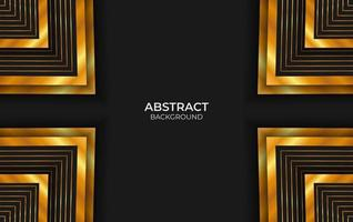 fundo preto e dourado abstrato de luxo vetor
