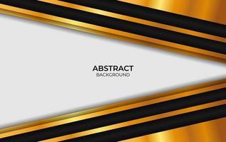 design de luxo abstrato preto e dourado vetor