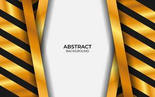 projetar estilo abstrato preto e dourado vetor