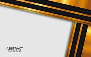 design abstrato de luxo preto e dourado vetor