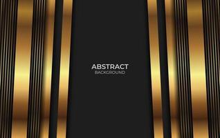 fundo abstrato dourado e preto estilo vetor