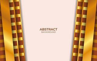 design de luxo marrom e dourado vetor