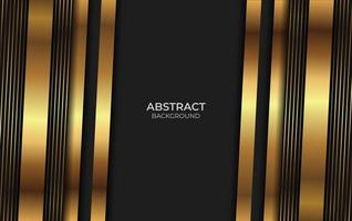 design estilo ouro e preto vetor