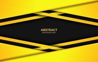 fundo amarelo e preto abstrato vetor
