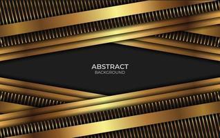 estilo abstrato de luxo em preto e dourado vetor