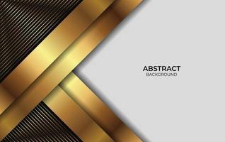 projetar fundo abstrato dourado e preto vetor