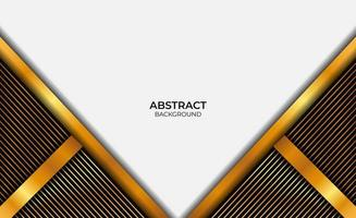 design abstrato luxo ouro e preto vetor