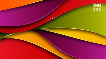 fundo abstrato moderno gradiente colorido. fundo de formas geométricas. pode usar para negócios, apresentação, banner da web, plano de fundo. vetor
