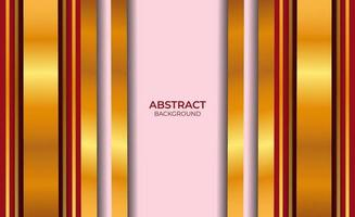 fundo abstrato vermelho e dourado vetor