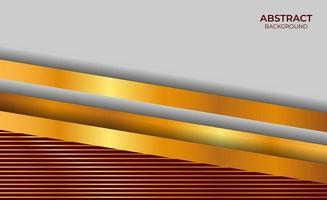 fundo vermelho e dourado com design luxuoso vetor