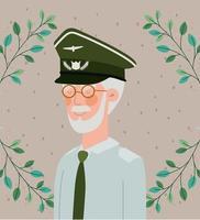 cartão comemorativo militar veterano