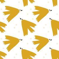 vector crianças sem costura fundo padrão com pássaro escandinavo para chá de bebê, design têxtil. textura simples para papel de parede nórdico, preenchimentos, fundo de página da web.