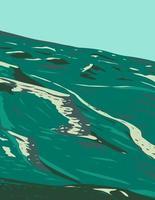 monumento nacional de leitos de fósseis de ágata com planícies cobertas de grama perto de harrison nebraska, pôster wpa