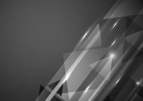 abstrato moderno padrão geométrico com iluminação em fundo escuro. conceito de tecnologia. vetor