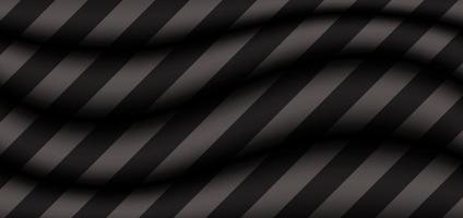 fundo abstrato onda cinza 3d com padrão de listras pretas diagonais vetor