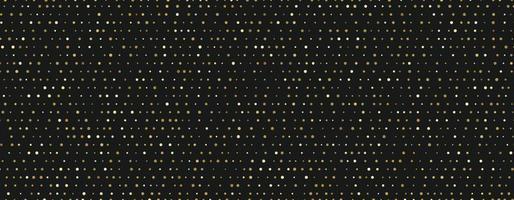 padrão dourado de pequenos pontos aleatórios em fundo preto vetor
