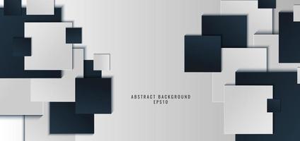 modelo banner web design fundo azul e branco forma quadrada com sombra. vetor