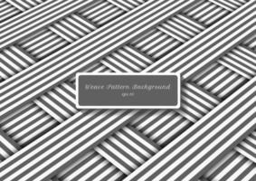 Linhas abstratas de listras diagonais cinza e brancas tecem padrão vetor