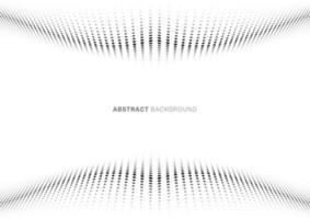 perspectiva do estilo de meio-tom abstrato do padrão de onda do ponto preto no fundo branco vetor