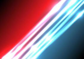 fundo abstrato do efeito de iluminação azul e vermelha com espaço para seu texto. vetor