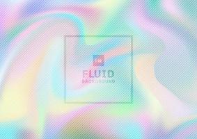 fundo holográfico de papel iridescente abstrato e design de textura. vetor