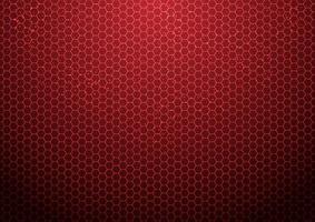 Fundo abstrato do hexágono vermelho com tecnologia de partículas futurista vetor